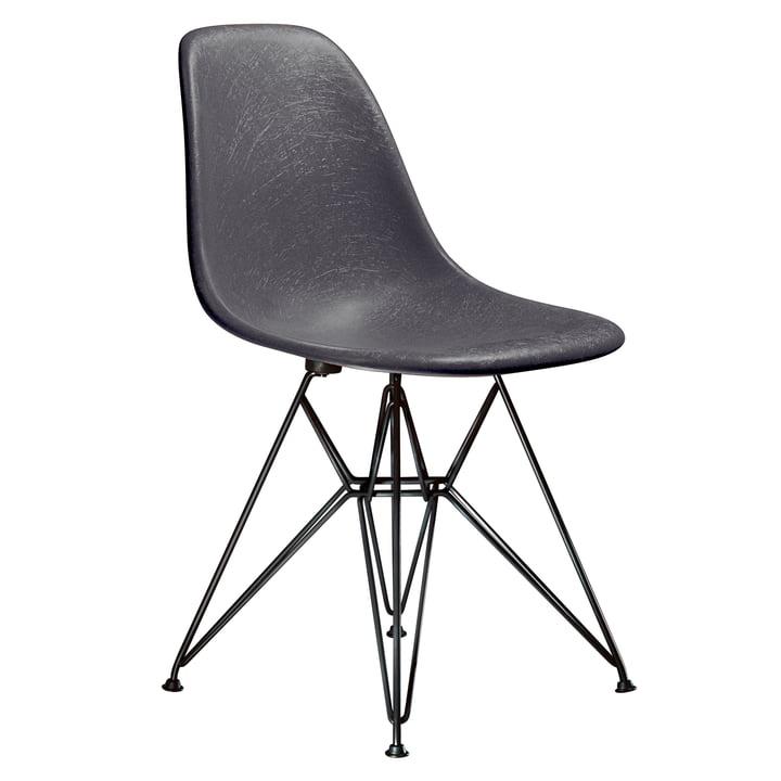 Eames Fiberglass Side Chair DSR by Vitra - basic dark / Eames elephant hide grey
