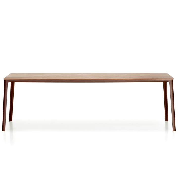 Plate Dining Table 220 x 100 cm from Vitra with tabletop natural oak / base chocolate