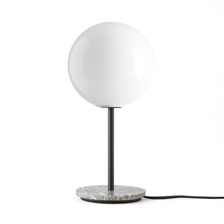 TR Table lamp from Menu in marble grey / illuminant shiny opal