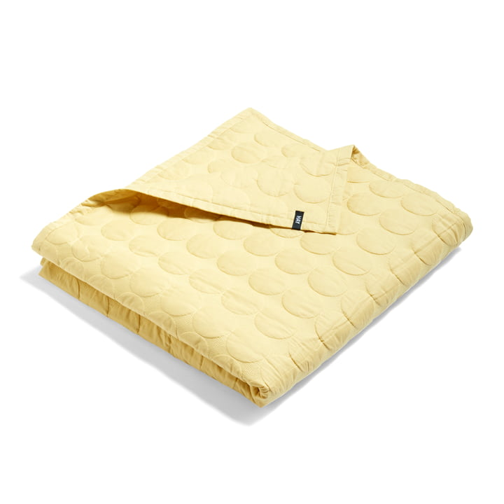 Mega Dot bedspread from Hay in soft yellow