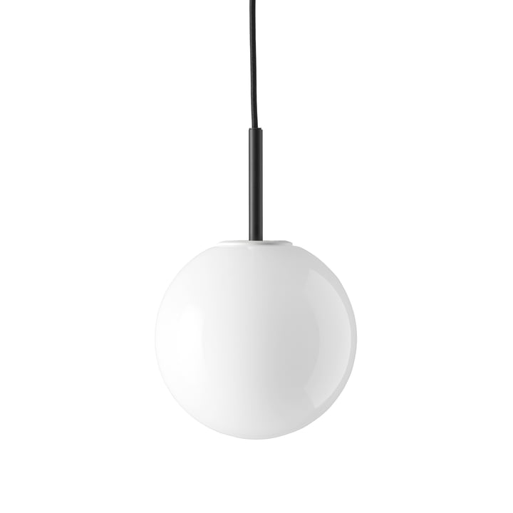 TR pendant luminaire from Menu in black / shiny opal lamp