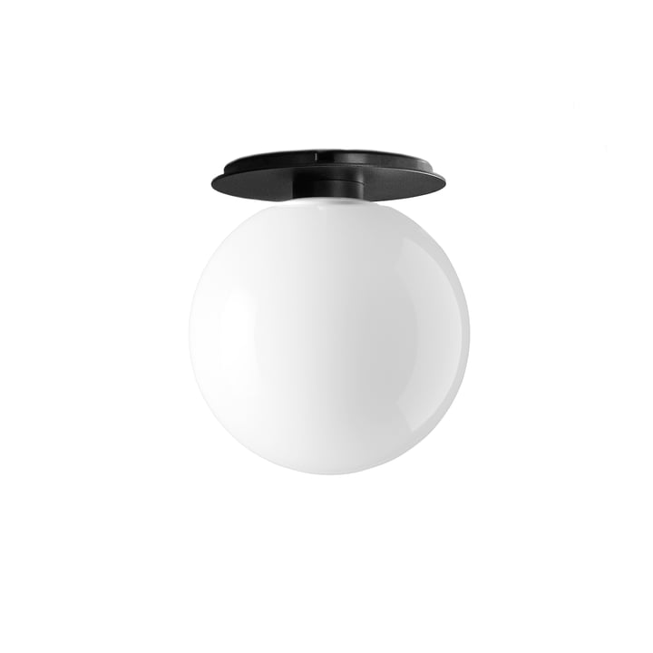 TR Wall and ceiling light from Menu in black / illuminant shiny opal