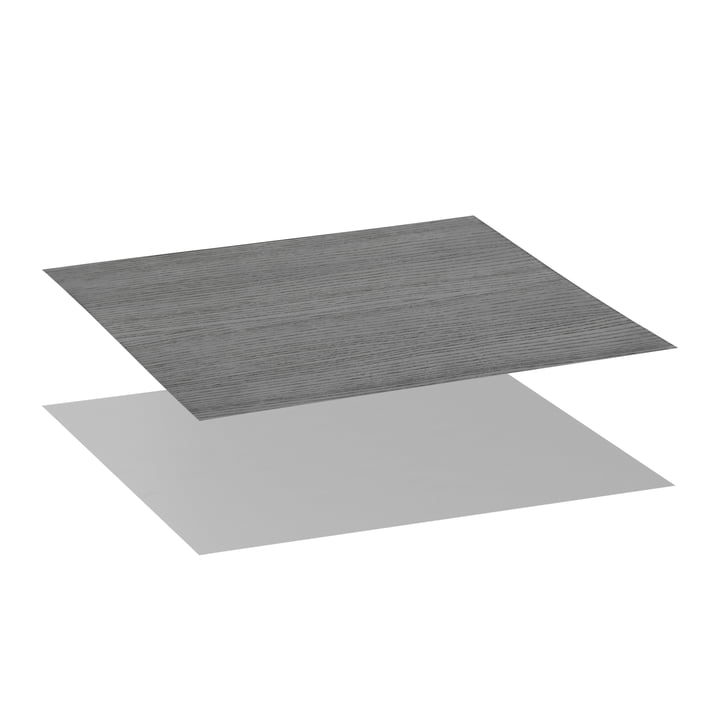 Tabletop for Twin 42 Side Table from by Lassen in Black Stained Ash / Cool Grey