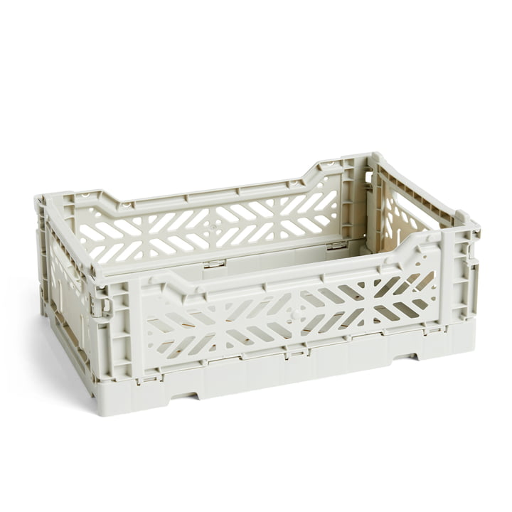 Colour Crate Basket S, 26,5 x 17 cm in Light Grey