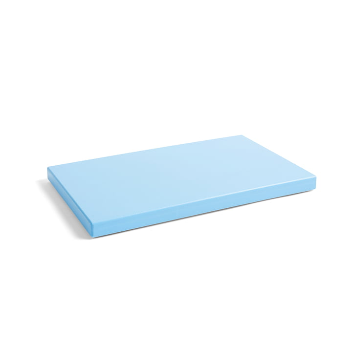 Rectangular cutting board L from Hay in light blue