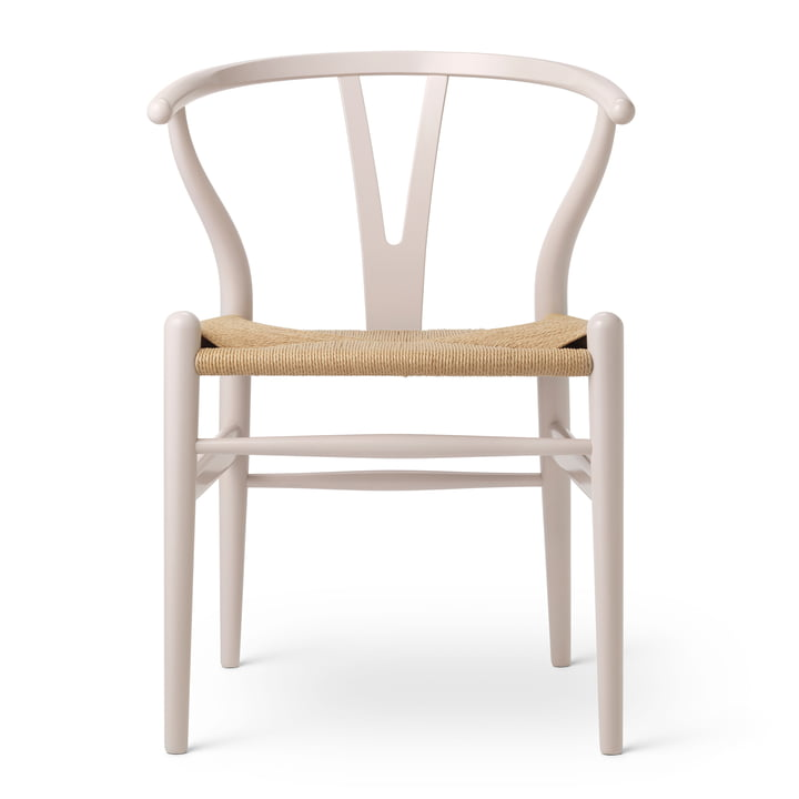 CH24 Wishbone Chair by Carl Hansen in Beech Rosy Blush / Natural Wickerwork (Birthday Edition)