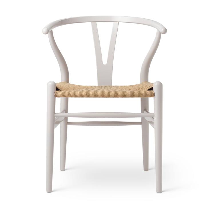 CH24 Wishbone Chair by Carl Hansen in beech Oyster Grey / natural mesh (Birthday Edition)