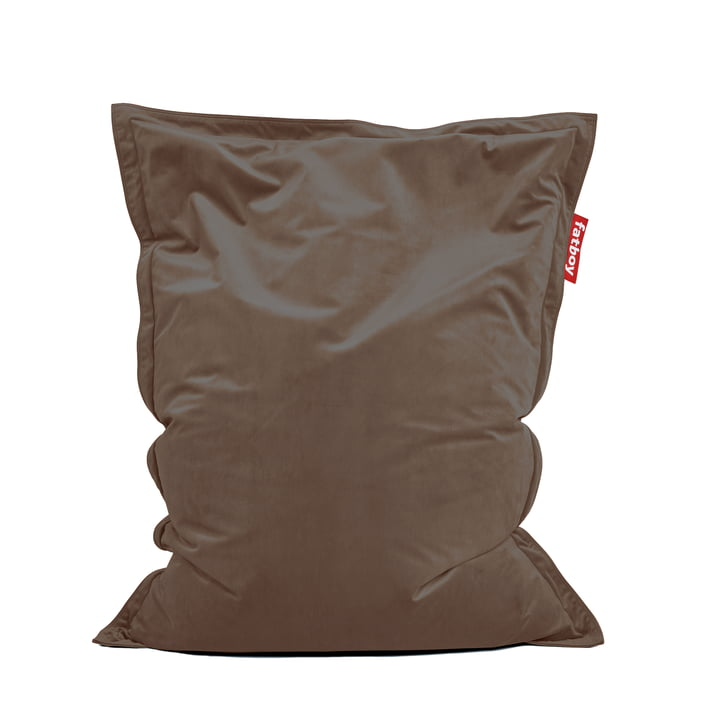 Beanbag Original Slim Velvet by Fatboy in taupe