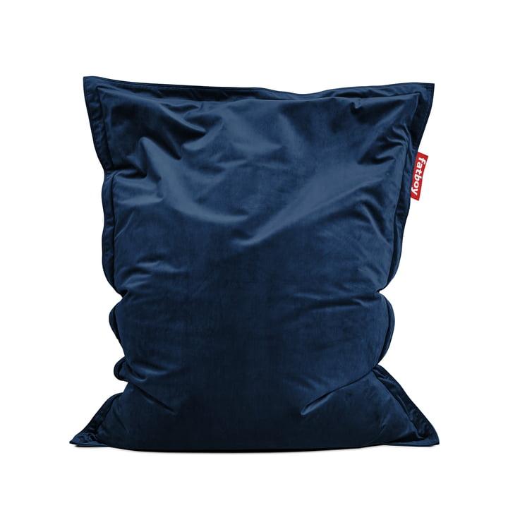 Beanbag Original Slim Velvet by Fatboy in dark blue