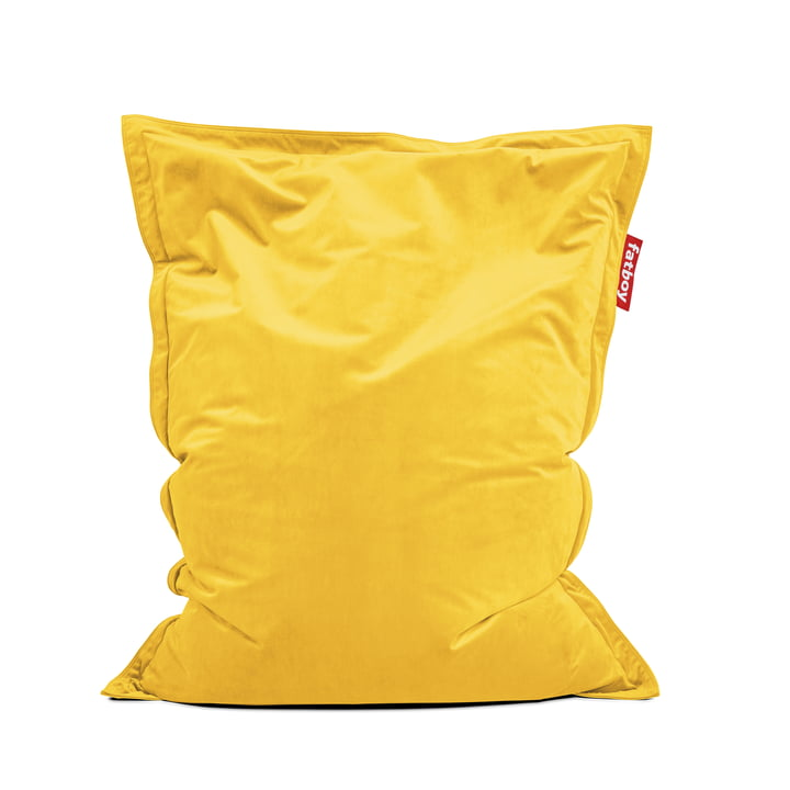 Beanbag Original Slim Velvet by Fatboy in corn yellow