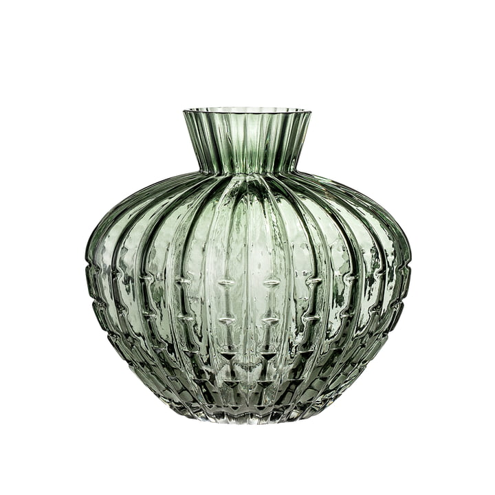 Glass vase from Bloomingville - Ø 14 x H 15 cm in green
