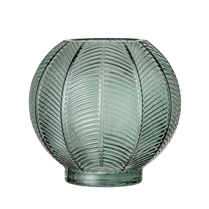 Glass vase from Bloomingville - Ø 20 x H 19 cm in green
