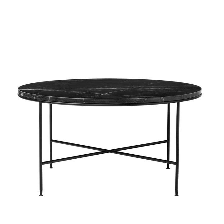 Planner coffee table by Fritz Hansen - Ø 80 x H 40 cm, marble top graphite gray