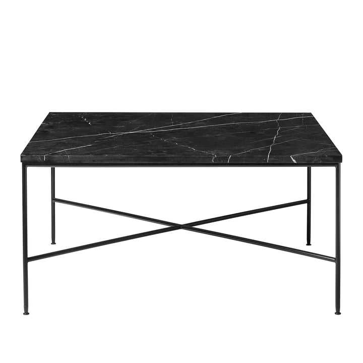 Planner coffee table by Fritz Hansen - 80 x 80 cm, marble top graphite gray