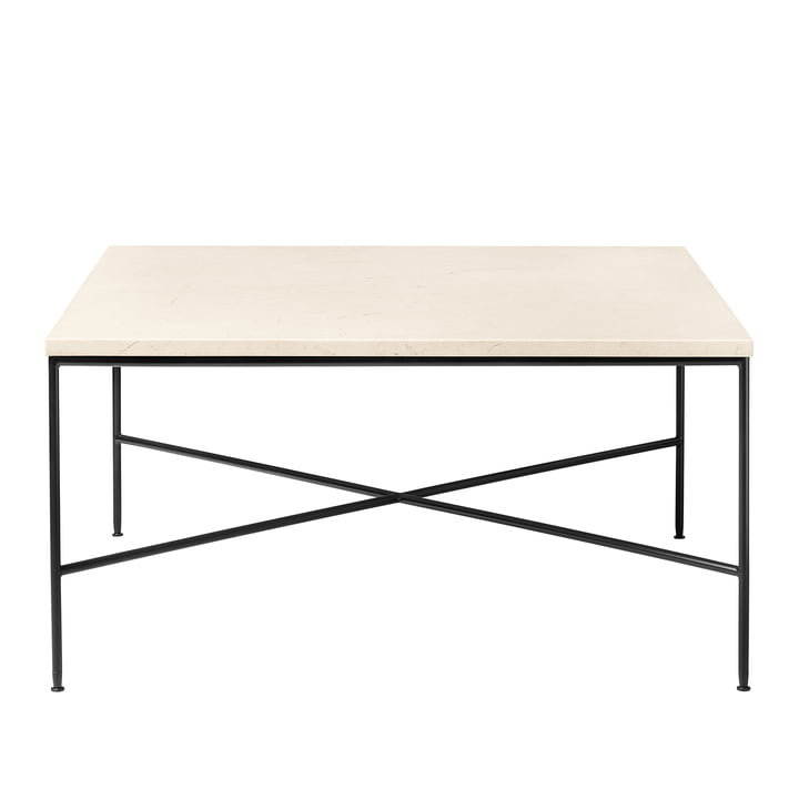 Planner coffee table by Fritz Hansen - 80 x 80 cm, marble top cream