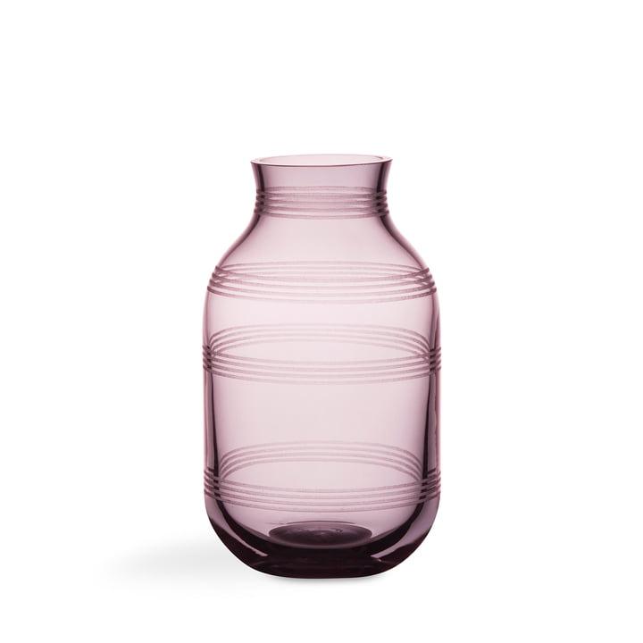 Omaggio Glass Vase by Kähler Desig in Plum Blue