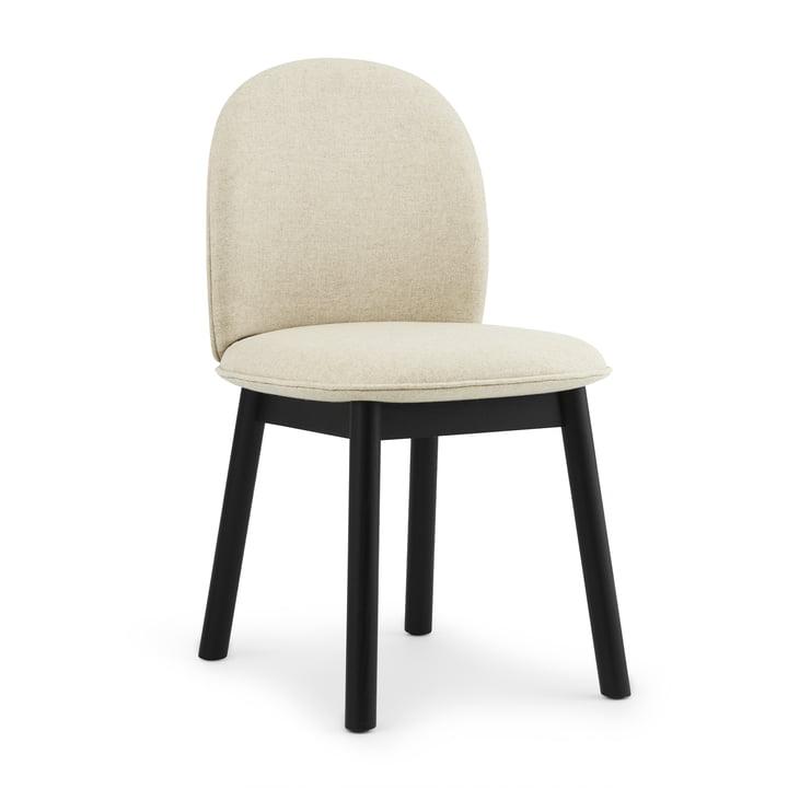 Ace Chair by Normann Copenhagen in oak black / beige (Main Line Flax Upminster MLF 20)