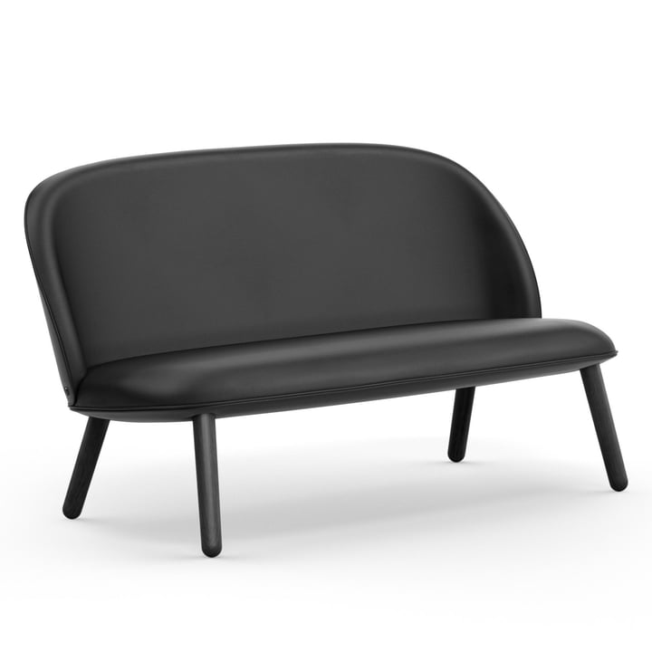 Normann Copenhagen - Ace Sofa, black oak / black (Sörensen Leather Ultra 41599)
