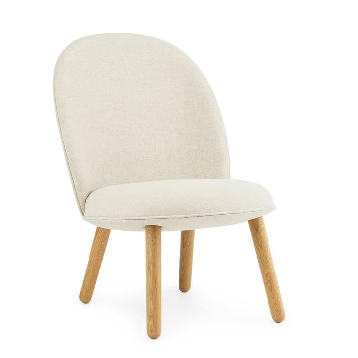 Ace Lounge Chair by Normann Copenhagen in oak / beige (Main Line Flax Upminster MLF 20)