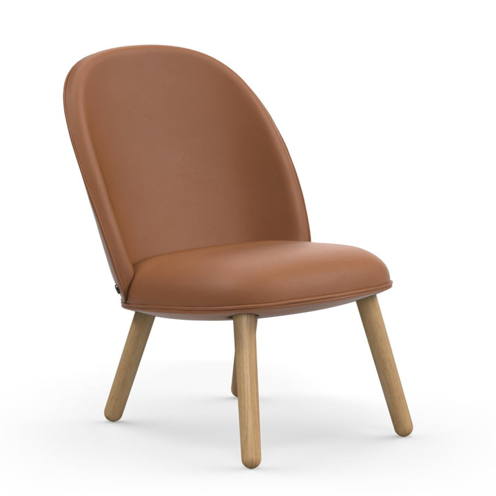 Ace Lounge Chair by Normann Copenhagen in oak / brandy (Ultra Leather 41574)