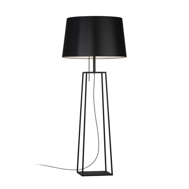 Tiffany 1 floor lamp from Carpyen in black
