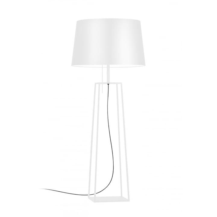Tiffany 1 floor lamp from Carpyen in white