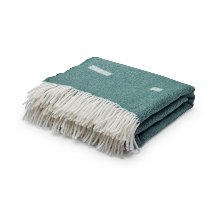 Iota Woollen blanket from Skagerak in dark green