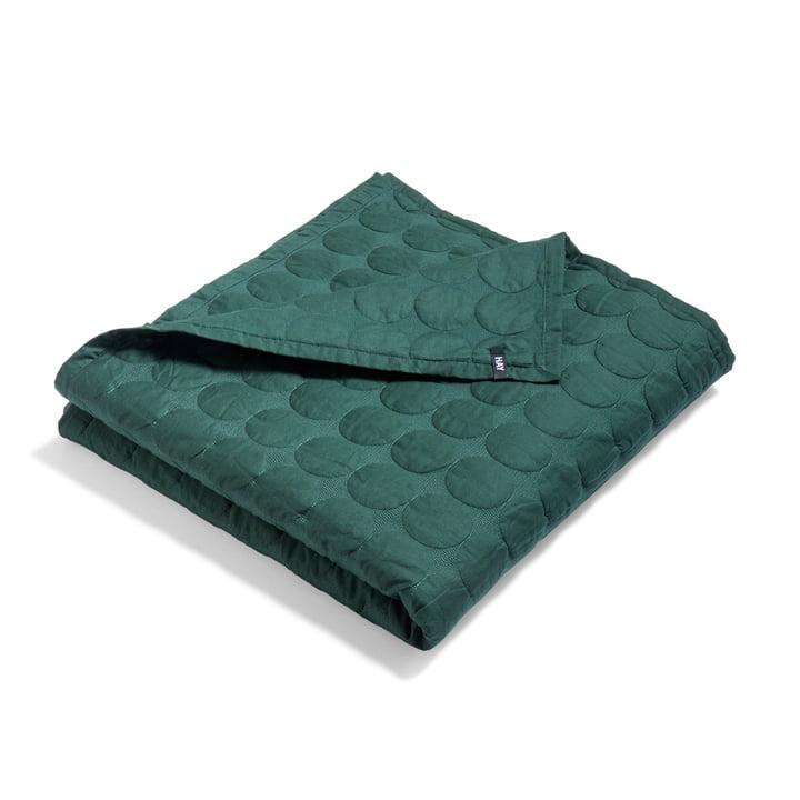 Mega Dot bedspread by Hay in dark green
