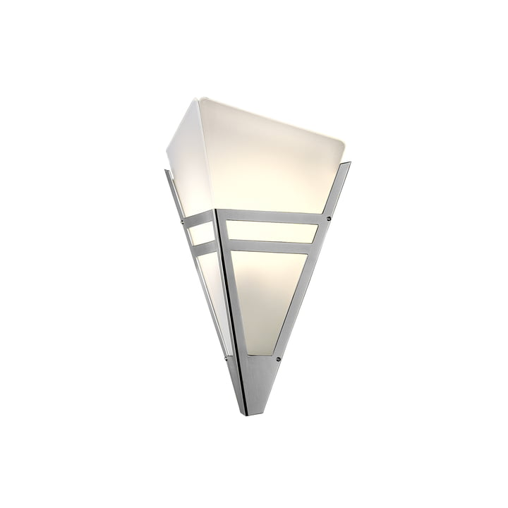 Art-Deco wall lamp WAD36 by Tecnolumen in chrome