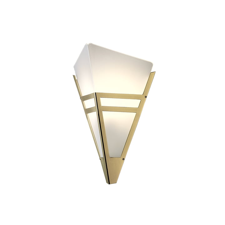 Art Deco wall lamp WAD36 by Tecnolumen in brass