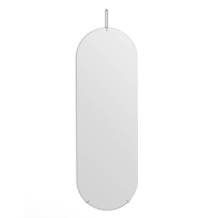 wall mirror oval from Moebe - 133 cm x 44 cm in chrome