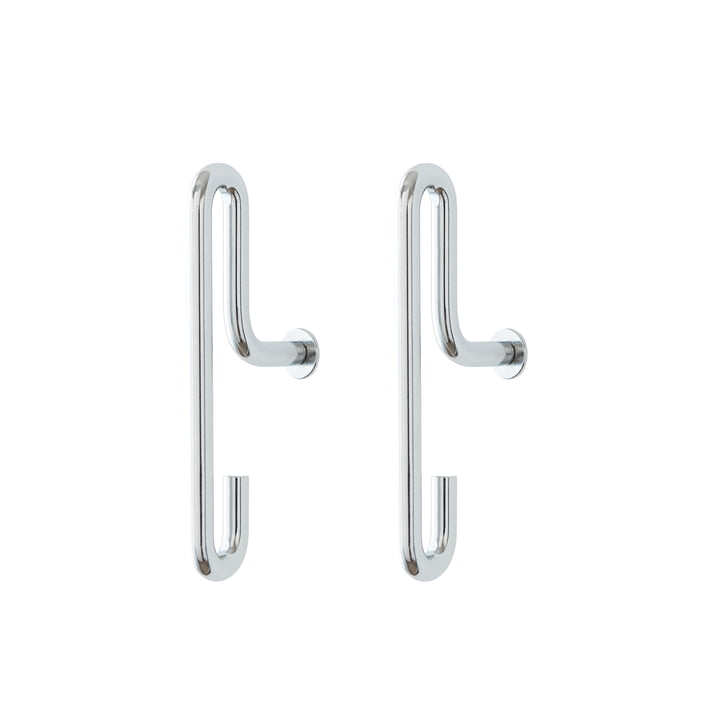 Wall Hook small, chrome (set of 2) from Moebe