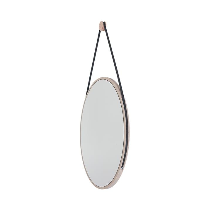 Schneider Mirror from Objekte unserer Tage - 85 x 55 cm, oiled ash / steel band black
