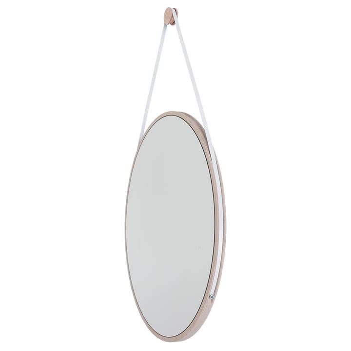 Schneider Mirror from Objekte unserer Tage - 110 x 70 cm, waxed ash / steel band white