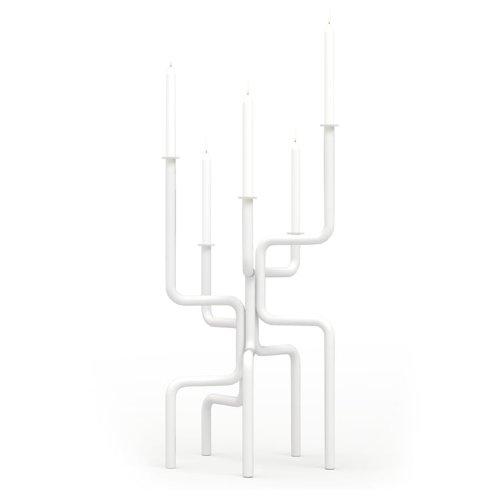 Walk of Flame Candlestick from Frederik Roijé in white