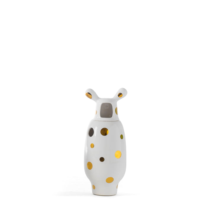 Showtime 10 Vase, Nº 2 of BD Barcelona in white with golden dots
