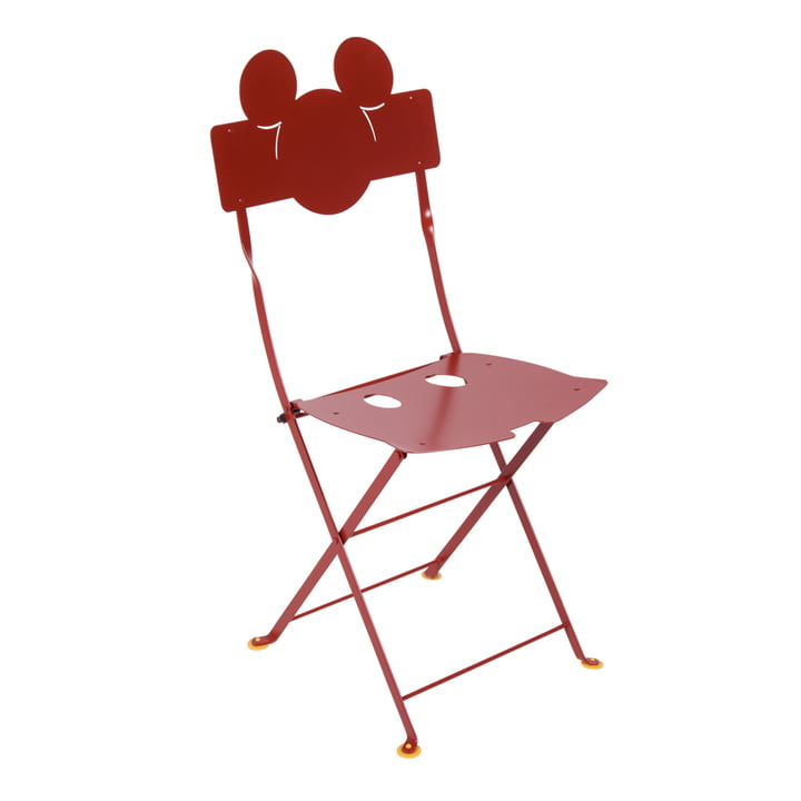 Mickey Mouse Bistro Chair by Fermob in poppy red