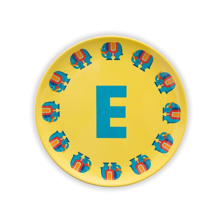 ABC Melamine plate E from byGraziela