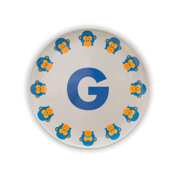 ABC melamine plate G from byGraziela