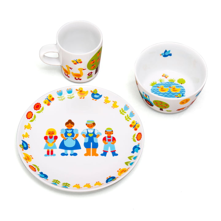 Children's tableware farm (3 pcs.) by byGraziela