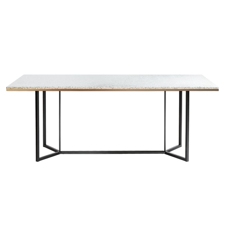 Terrazzo dining table from red edition , 190 x 90 cm in bianco