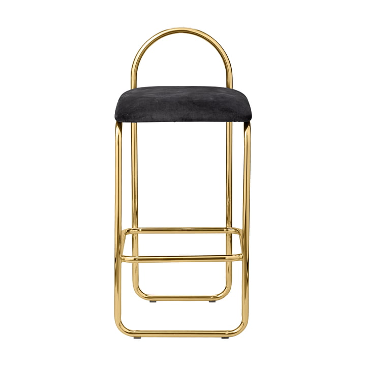 Angui bar stool H 82,5 cm in anthracite / gold by AYTM