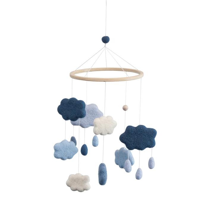 Baby Mobile Clouds of Sebra in blue