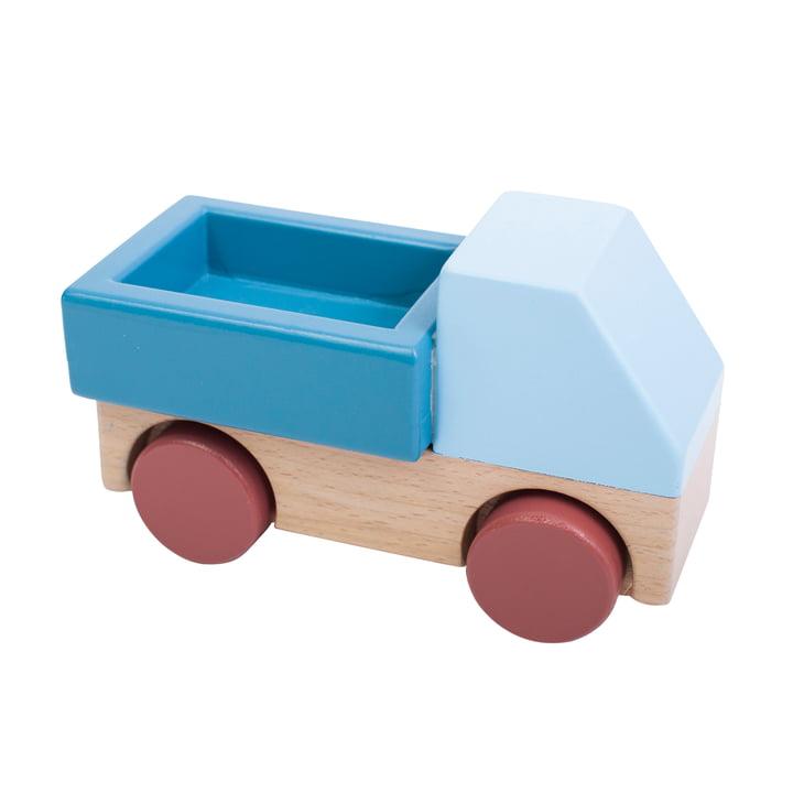 Wooden truck from Sebra in blue