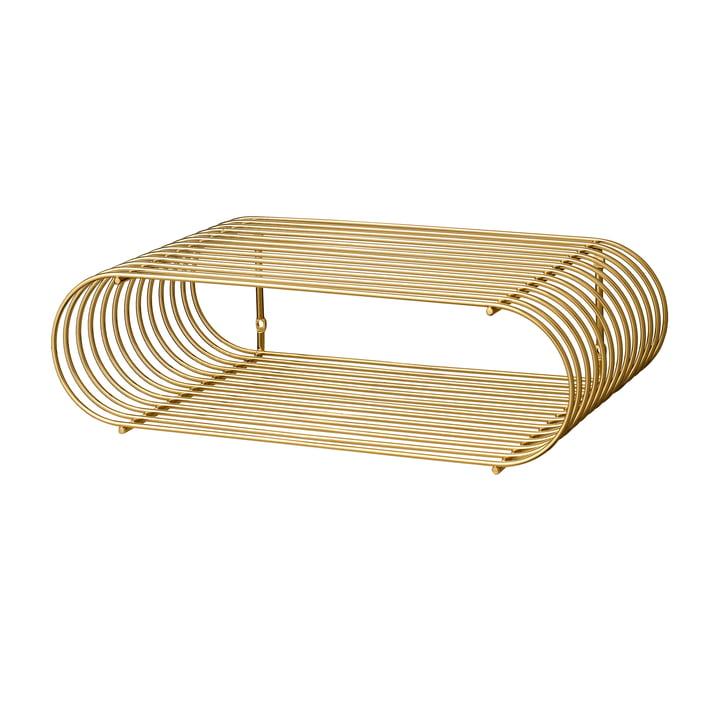 Curva wall shelf, gold by AYTM