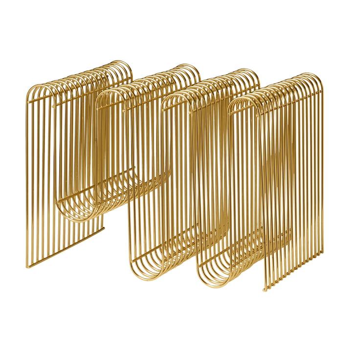 Curva magazine holder in gold by AYTM