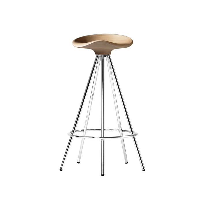 Jamaica stool H 66 cm from BD Barcelona in beech