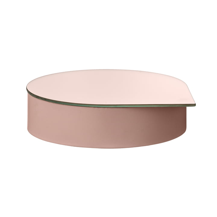 Gutta jewelry box with mirror large in rose by AYTM