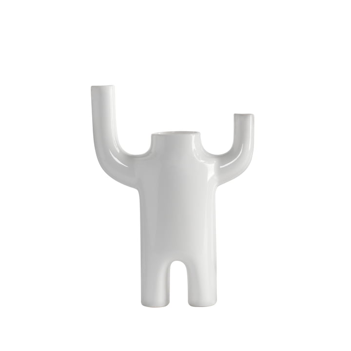 Happy Susto Vase small from BD Barcelona in white