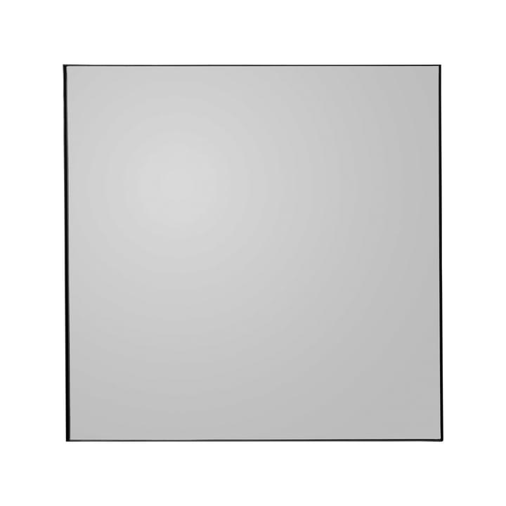 Quadro wall mirror, 90 x 90 cm in black by AYTM